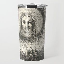 Odilon Redon - And in the disc of the sun the face of Christ shone Travel Mug
