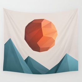 Low Poly Mountain Wall Tapestry