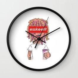 Lil Pump - ESSKEETIT box logo Wall Clock