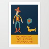 dachshund Art Prints featuring Dachshund by Ariel Wilson