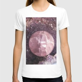 Amethyst and Pink Quartz Gemstone T-shirt