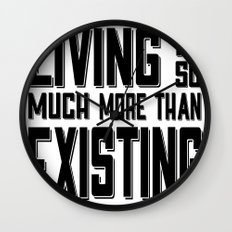 Living & Existing two Wall Clock