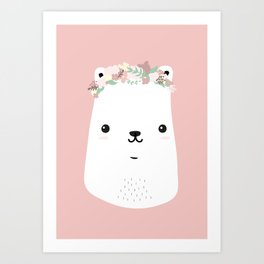 Flower bear Art Print