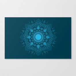 Blue Mandala #4 Canvas Print