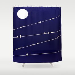 (more) birds on a Wire Shower Curtain