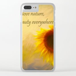 Sunflower Love Clear iPhone Case