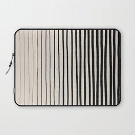 Black Vertical Lines Laptop Sleeve