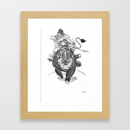 S1: Boar Hunters Framed Art Print