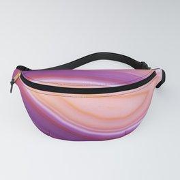 Purple Striped Agate Fanny Pack