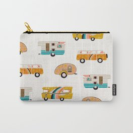 Retro Road Trip – White Carry-All Pouch
