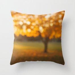 Oak Knoll Gold Throw Pillow