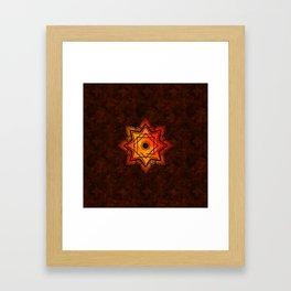 Watercolor Star of Lakshmi - Ashthalakshmi Framed Art Print