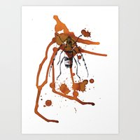 Insect in Ink 01 Art Print