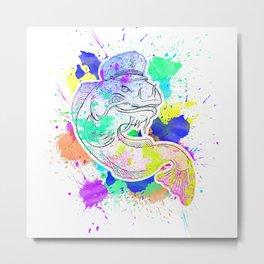Colorful Waller Splash Art Design Metal Print