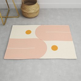 Abstraction_SUN_DOUBLE_LINE_POP_ART_Minimalism_001C Rug