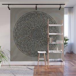 Circle of Life Mandala Brown and Blue Wall Mural