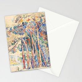 "Paul Signac ""Antibes, le fort depuis Juan-les-Pins"" Stationery Cards"