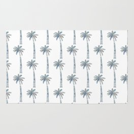 Watercolor Palm Pattern 2 Rug