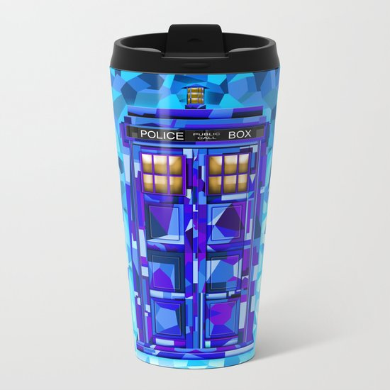 Phone booth Tardis doctor who cubic art iPhone 4 4s 5 5c 6, pillow case, mugs and tshirt Metal Travel Mug