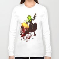 aquaman Long Sleeve T-shirts featuring Anne Frankenstein AF2 by Lazy Bones Studios