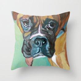 Drako the Rescued Boxer Throw Pillow