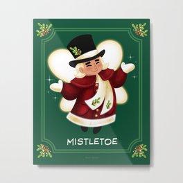 Christmas Mistletoe Metal Print