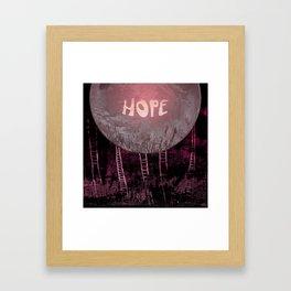 Hope, Climbing / Wonderful Planet 13-11-16 Framed Art Print