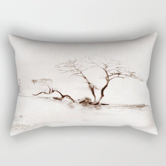 Scots Pine Sepia Rectangular Pillow
