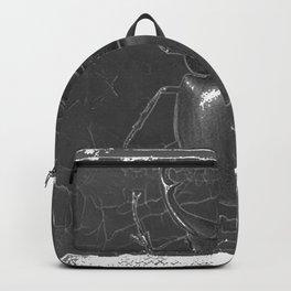 BLACK & WHITE  ANTIQUE STAG-HORNED BEETLE   PATTERNS  ART Backpack
