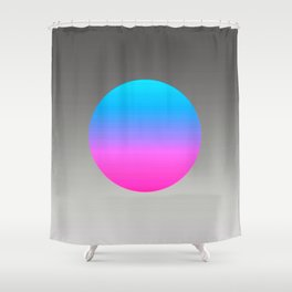 Turquoise Hot Pink Focal Point Shower Curtain