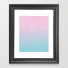 Dream fade pastel tropical chill painting abstract art for minimalist Framed Art Print