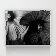 Dramatic Black and White Hibiscus Flowers Macro Laptop & iPad Skin