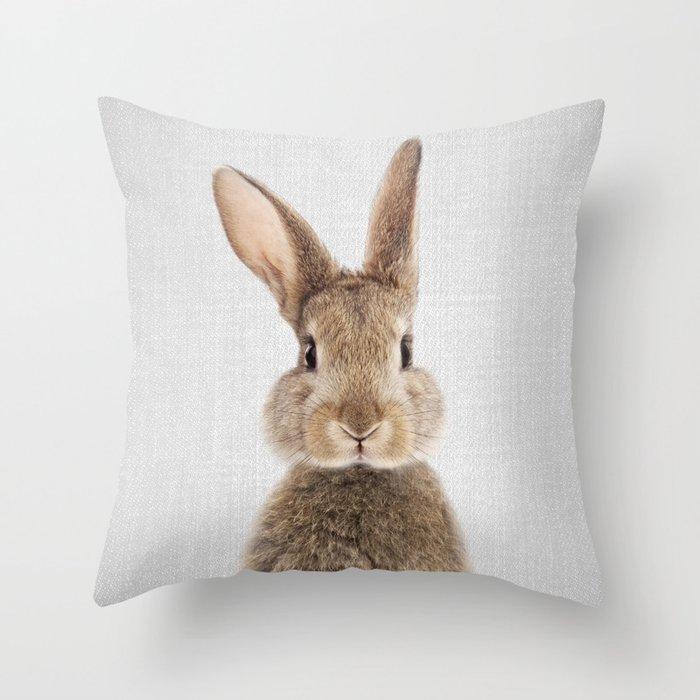 Rabbit - Colorful Throw Pillow