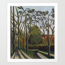The Banks of the Bievre near Bicetre Art Print