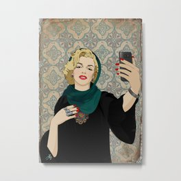 Marilyn Selfie Metal Print