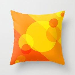 Orange Spheres Abstract Throw Pillow