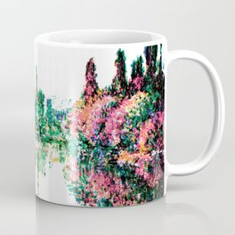 Monet Morning on the Seine, near Vetheuil 1878 Pink Peach Coffee Mug