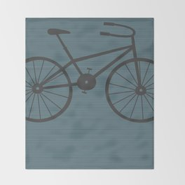 Grey Bike by Friztin Throw Blanket