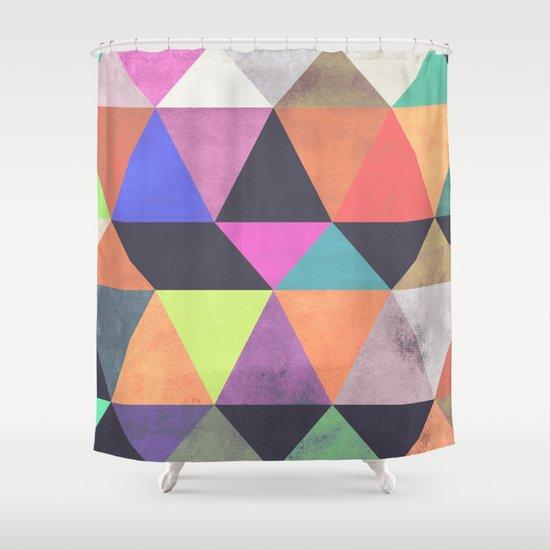 colour + pattern 12 Shower Curtain