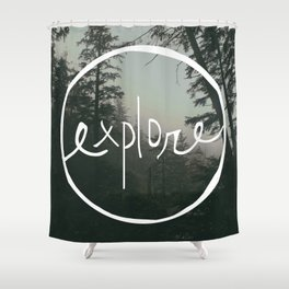 Explore Oregon Forest Shower Curtain