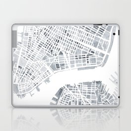 Map Manhattan Gray NYC Laptop & iPad Skin