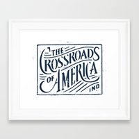 indiana Framed Art Prints featuring Indiana by Jeremy Paul Beasley