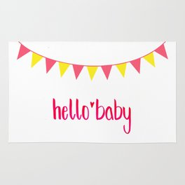 Hello Baby! It's your Birth-Day. Rug