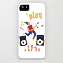 Carefree Youth. The guy plays the guitar. iPhone Case