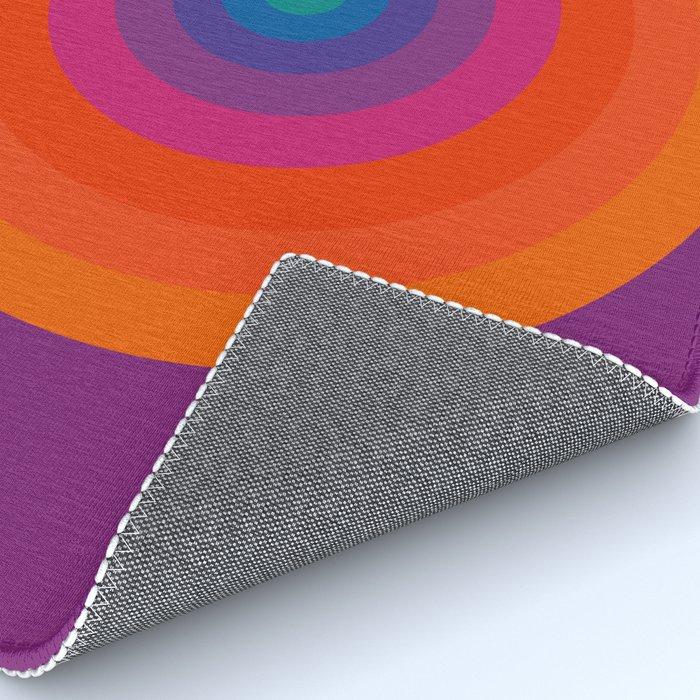 Retro Bullseye Pattern Rug