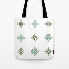 Turquoise With A Tough Of Gold Pattern Tote Bag
