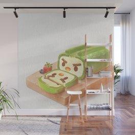 Matcha Cake Roll Wall Mural
