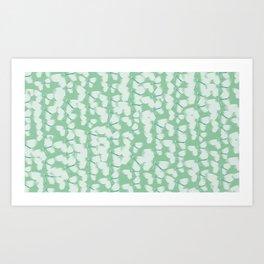 Green Butterflies Art Print