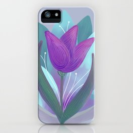 Tulip and Lotus Blossom iPhone Case