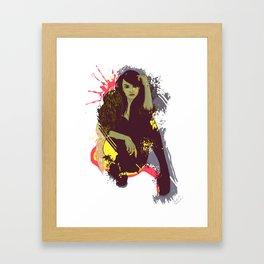 woman K. Framed Art Print